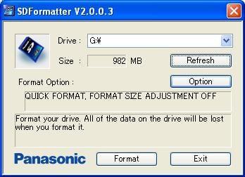 panasonic sd formatter